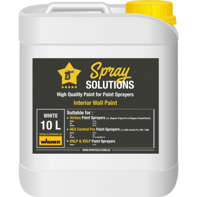 SpraySolutions - Emulsion/Wall Paint - 10 litres - WHITE