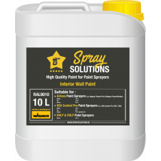 SpraySolutions - Emulsion/Wall Paint - 10 litres - RAL9010